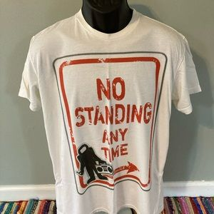 No Standing Anytime Dance Music Shirt EDM Large